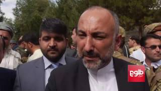 Ghani At Police Chief's Funeral, Vows to Defeat Terrorists