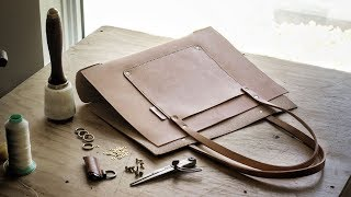 DIY Leather Tote Bag with FREE PATTERN (pt. 1)