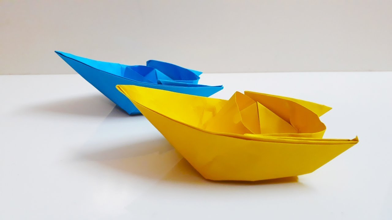 Easy Origami Boat   Paper Boat Making Instructions step by ...