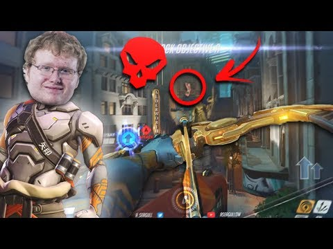 SEAGULL HAS INSANE HANZO AIM! CALCULATED LONG DISTANCE SHOT! - OVERWATCH WTF FUNNY MOMENTS MONTAGE!