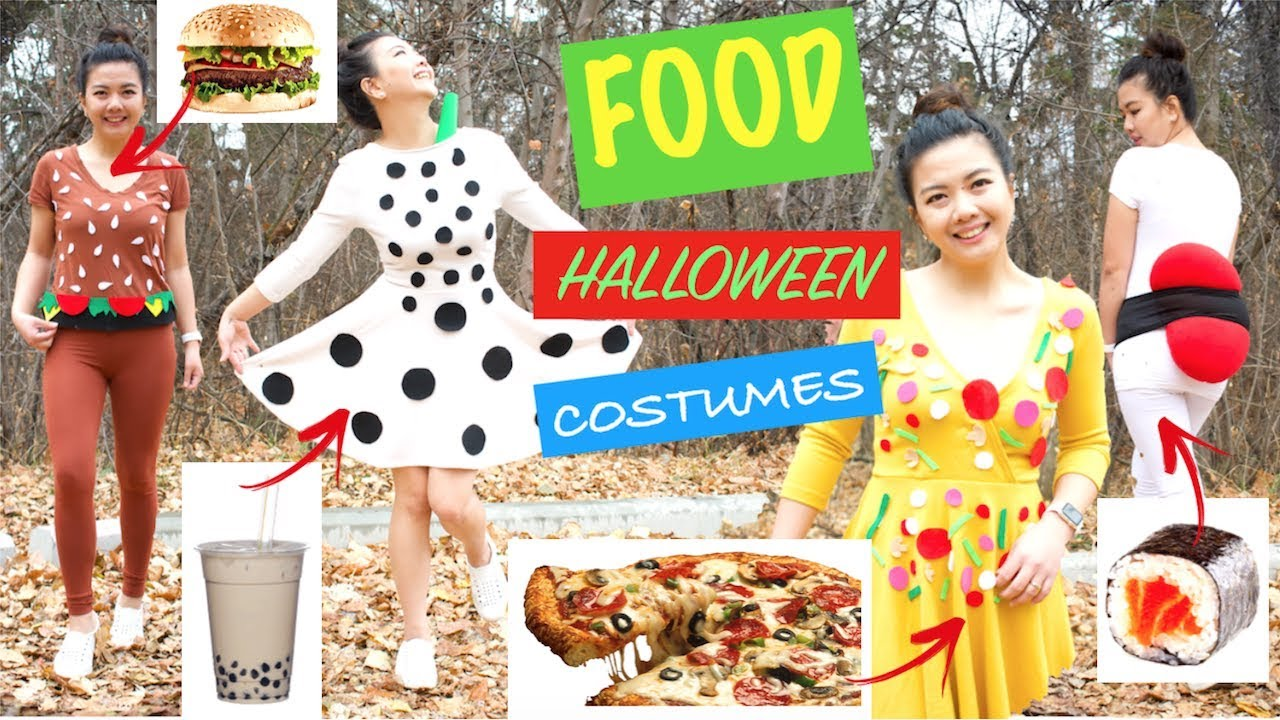food halloween costumesushibubble teahamburgerpizzafast easy diy