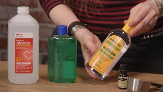 Hand sanitizer sold out? here's how to make your own. spoiler: must contain at least 60% alcohol be effective! read more about the science of sanitiz...
