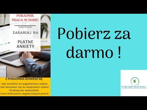 Płatne Ankiety - Darmowy Poradnik (Ebook) from YouTube · Duration:  2 minutes 26 seconds