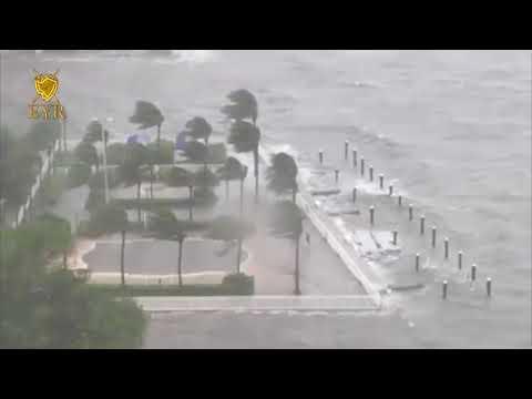 ¡IMPACTANTE! ¡INSTANTES CUANDO LA MAREA ENTRA EN MIAMI FLORIDA!