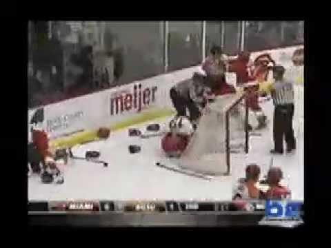 Miami vs BGSU Hockey Fight / Rico Ejection