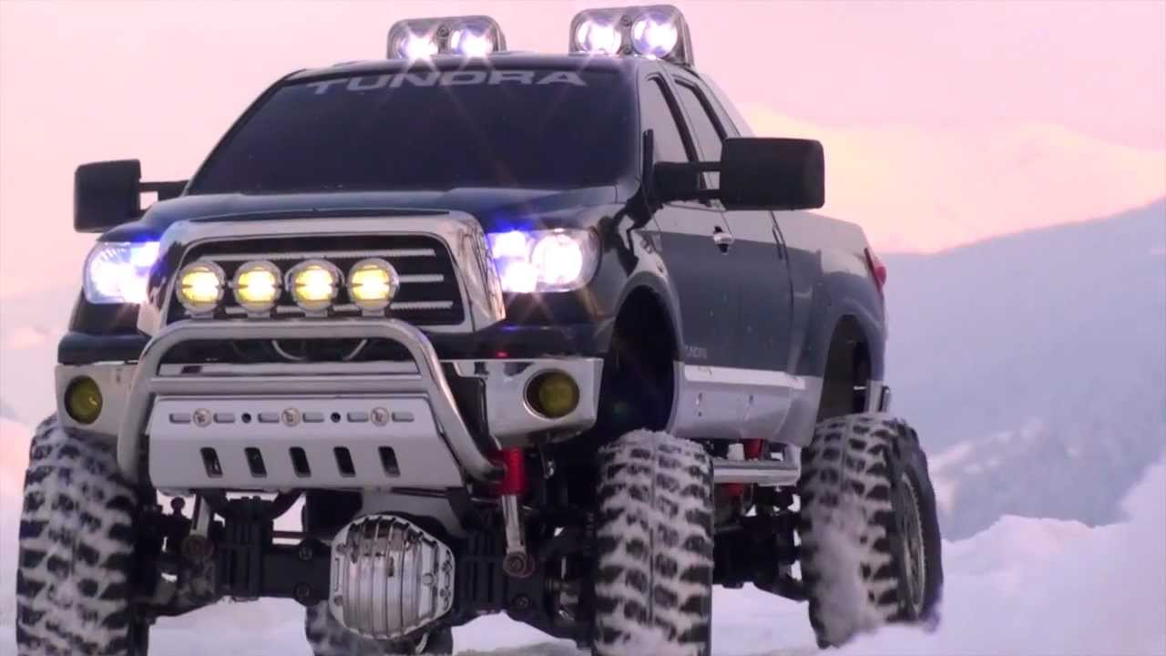 Tamiya Toyota Tundra High Lift On A Winter Day In The
