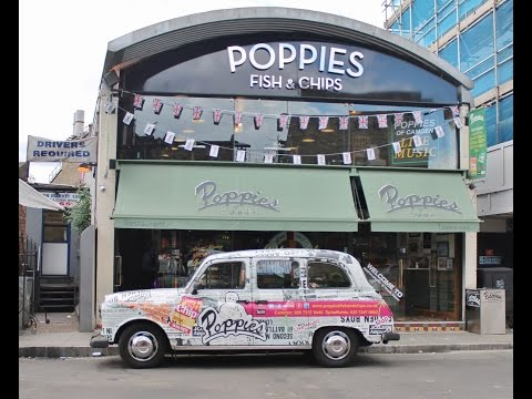 Lunch at Poppies Fish and Chips - Camden, London