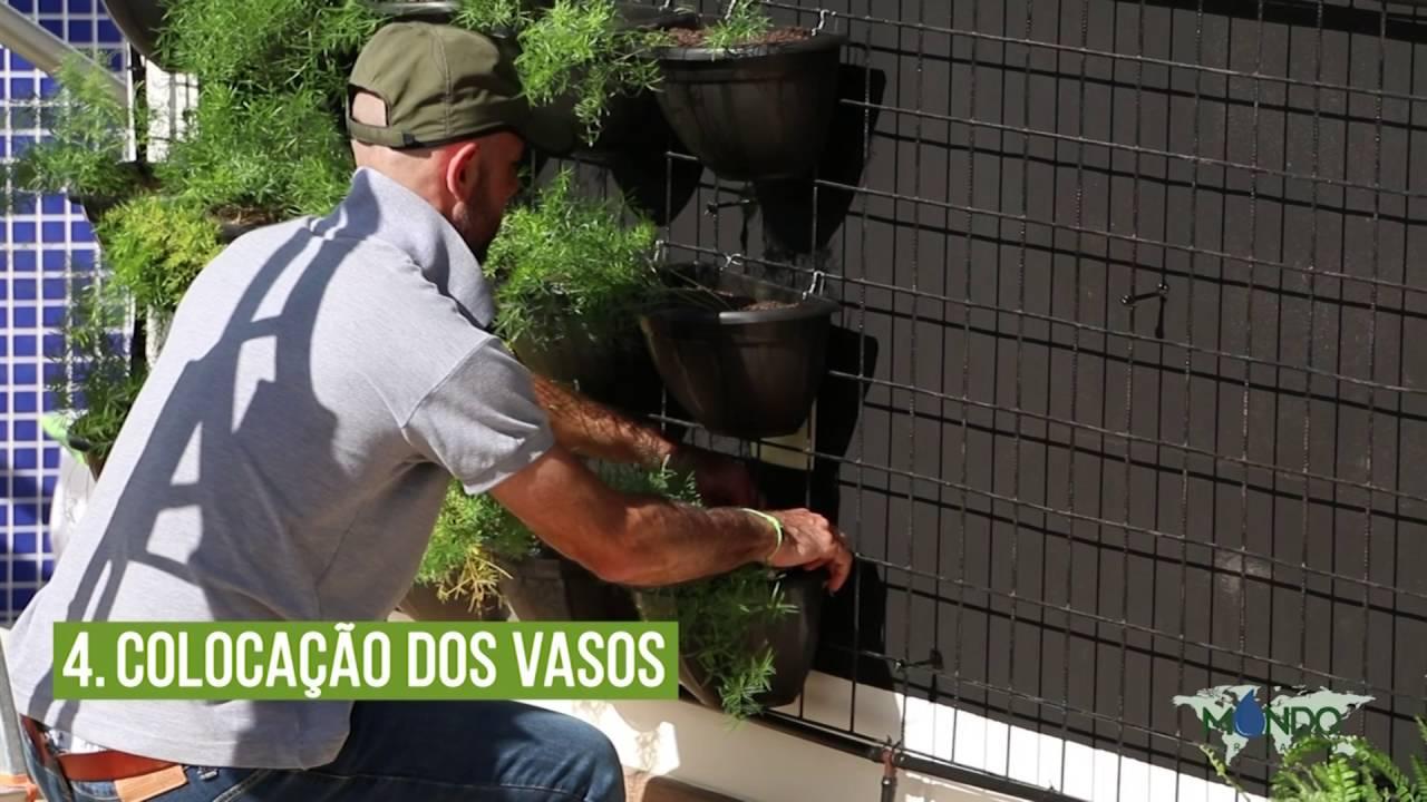 Como fazer um Jardim Vertical   Mondo Irrigação - YouTube