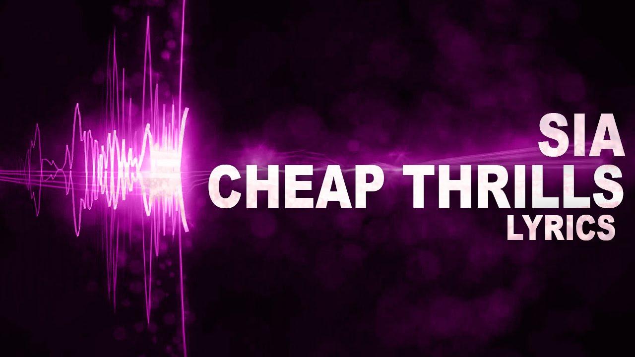 Sia - Cheap Thrills Song LYRICS Video HD 2015 - YouTube