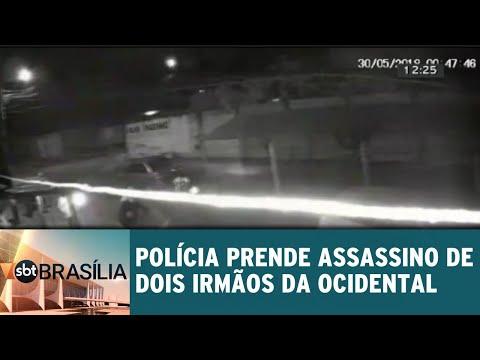 Polícia prende assassino de dois irmãos da Ocidental | SBT Brasília 31/08/2018