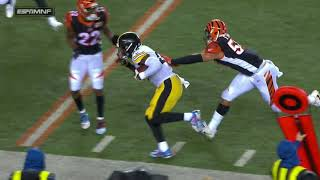 Le'Veon and Juju wrestling pin TD celebration: Steelers vs Bengals Week 13