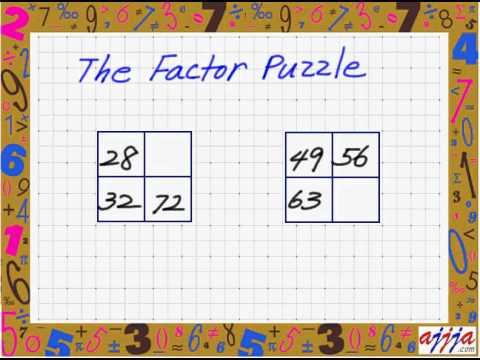 Math - Factor Puzzle 2.avi - YouTube