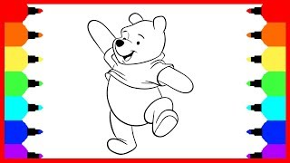 How To Draw Winnie the Pooh Coloring Book and Drawing for Kids. Learning How to Paint for Children