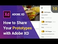 How to Share Your Prototypes with Adobe XD | Adobe Creative Cloud