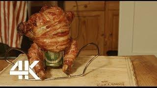 Beer Can Chicken Supergemantelt Bacon X-treme - Bbq Grill Rezept Video - Die Grillshow 88