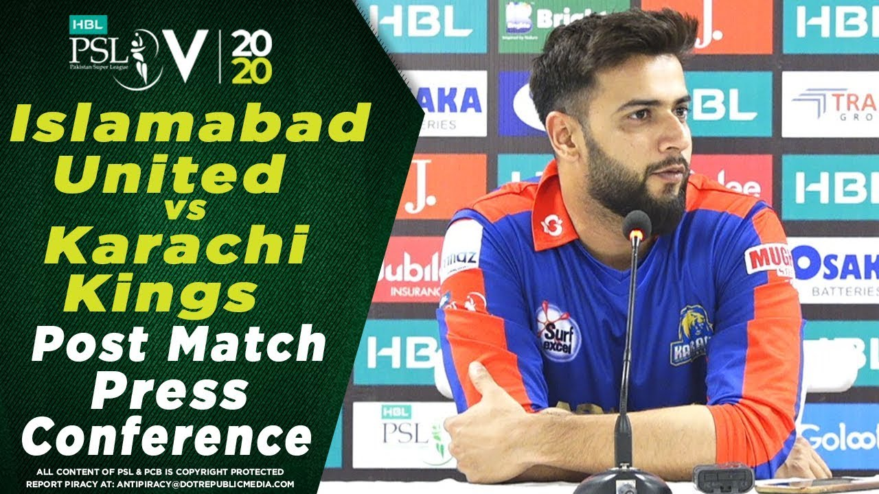 Imad Wasim Post Match Press Conference | Islamabad United vs Karachi Kings | HBL PSL 2020