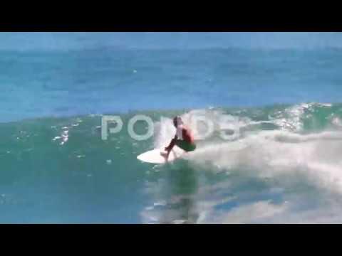 Big Wave Surfing In Malibu, Pacific Ocean, California