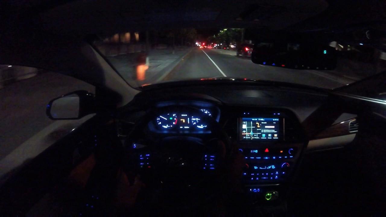 Hyundai Sonata: Driving at night