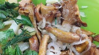 Жареные лисички с картошкой рецепт №2