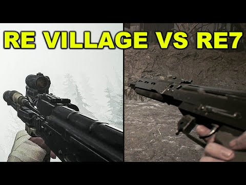 Ethan All Weapon Reload Animations - Resident Evil Village Vs 7 Comparison |
