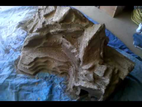 Building a model railroad mountain out of foam