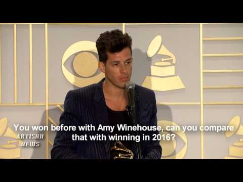 "MARK RONSON TALKS BIG GRAMMY NIGHT FOR ""UPTOWN FUNK, BRUNO MARS, AND FUTURE"