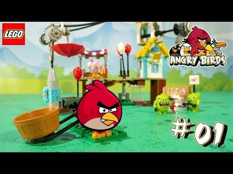 Мультфильм Злые Птички Энгри Бердс уничтожают Фасфудный Ресторан Cвиней - Lego Angry Birds Movie