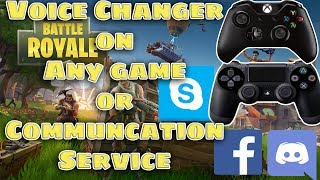 Voice Changer for Any Game / Communication service (Xbox, PS4, Discord, Skype, Facebook, TeamSpeak)