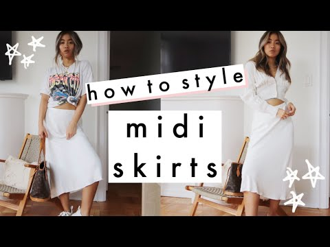 HOW TO STYLE: the 90s Midi Skirt