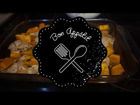 Cook With Me | Easy Oven Baked ORGANIC Rosemary Chicken and Butternut Squash