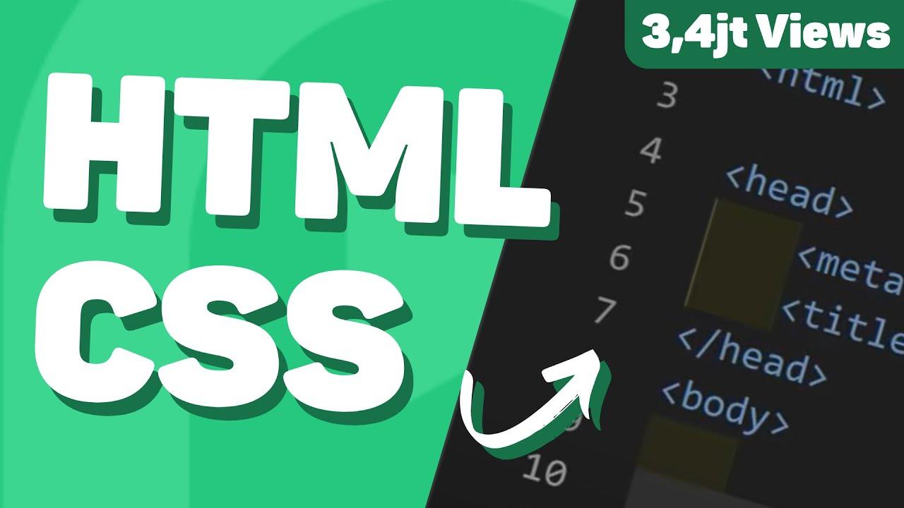 Belajar Html Css Untuk Pemula Full Lengkap Youtube