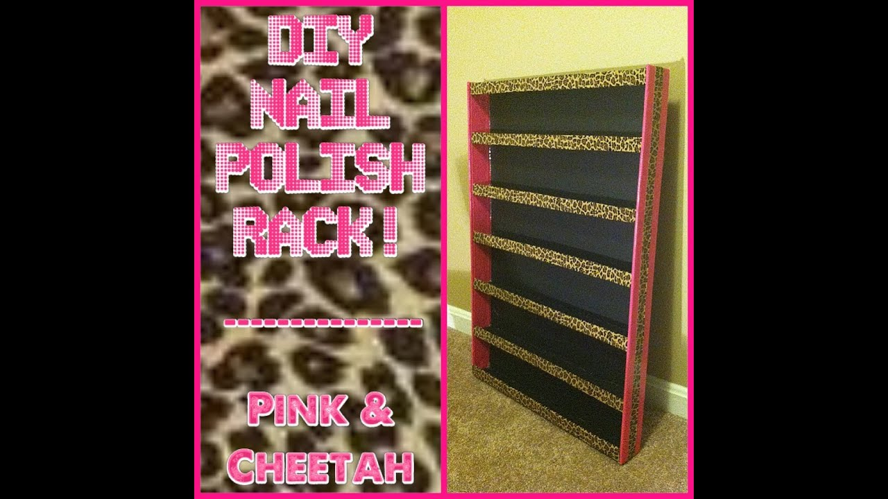 Diy nail polish rack youtube solutioingenieria Gallery