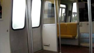 Riding DC Metro Subway Green Line Train 6-04-09
