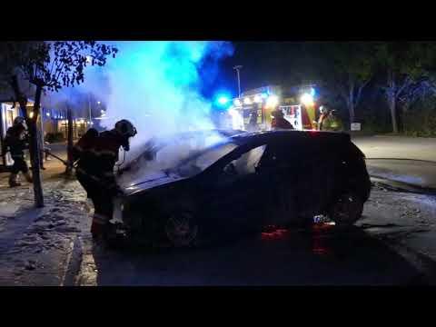 21.05.21 To biler stod i flammer på Egersundsvej i Korsør