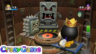 Mario Party 9 Boss Rush Boss Battles #52 Whomp vs King Bomb-omb (Master Difficult)