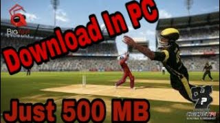 How to download don bradman cricket 14 game in just 500mb in pc with proof