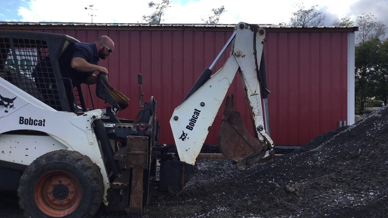 Bobcat 873 Skid Steer Loader w/ Backhoe Attachment!
