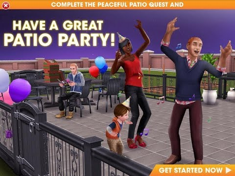 DIY HOMES Part 1: Peaceful Patio QUEST – The Sims FreePLAY