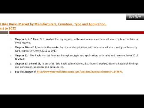 Bike Racks Market 2017: Global Industry Growth & Key Manufacturers Analysis 2022
