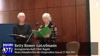 Soirée Ännchen von Tharau – Teil 1: ihr Leben, ihr Lied - Deutschlandtreffen der Ostpreußen 2014