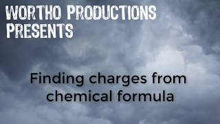 Finding charges from a chemical formula