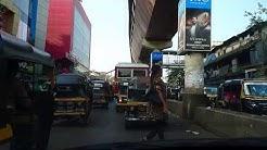 Driving Road Traffic on Mumbai S V Road Borivali West