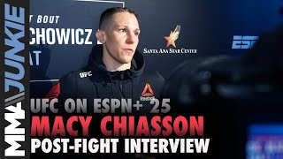 UFC on ESPN+ 25: Macy Chiasson full post-fight interview
