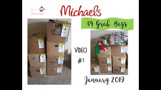 Michael's $4 Grab Bags Unboxing January 2019 - 3 boxes revealed OVER $700 in these first 3 boxes