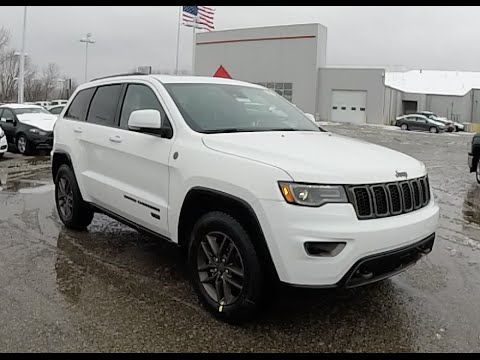 2016 Jeep Grand Cherokee Limited 75th Anniversary Edition 4x4 White 18327