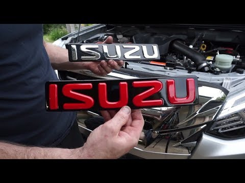 Isuzu Mu-x & D-max Badge Removal/Replacement Tutorial