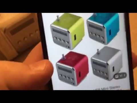 2016 Wish Application Tiny portable FM Radio and MP3 PLAYER Unboxing