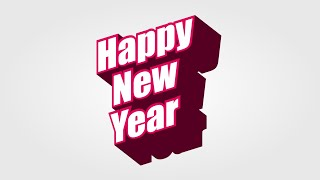 Happy New Year Design in Inkscape