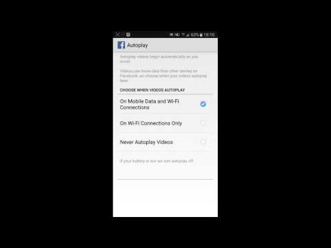 How to  Enable auto play video on Facebook when connected to wifi