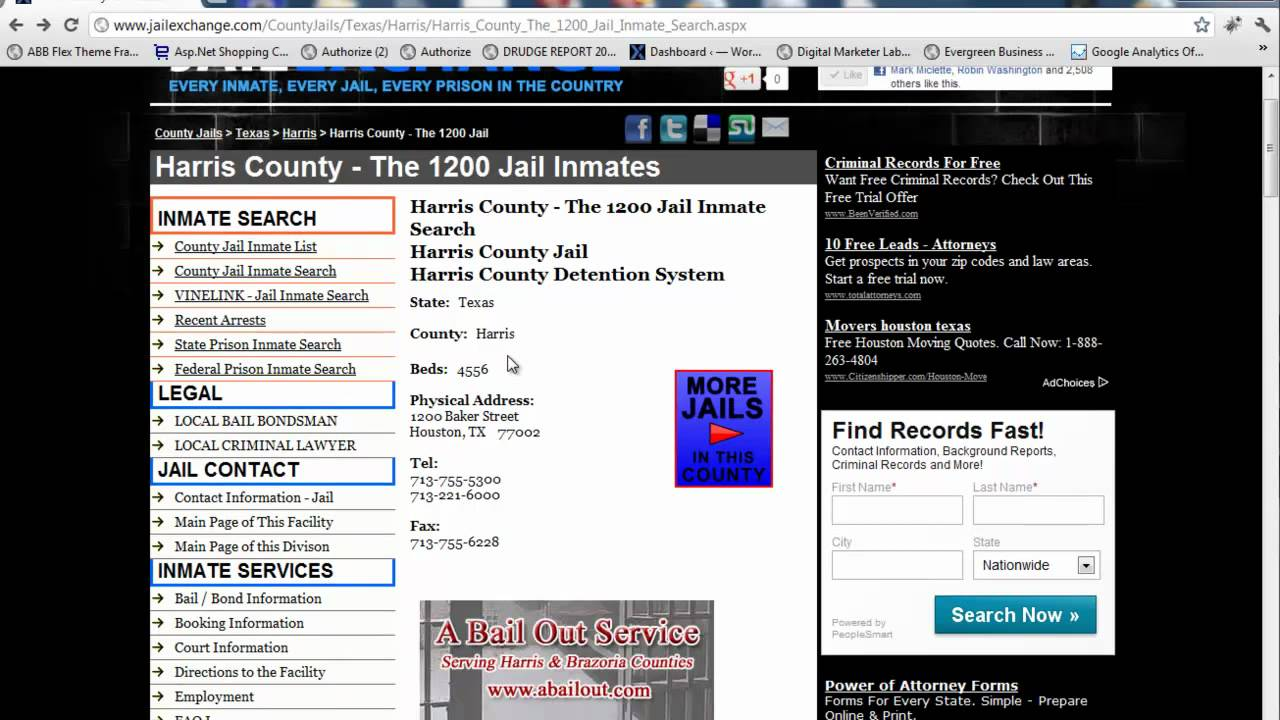 Harris County Jail Inmates - Harris County Jail